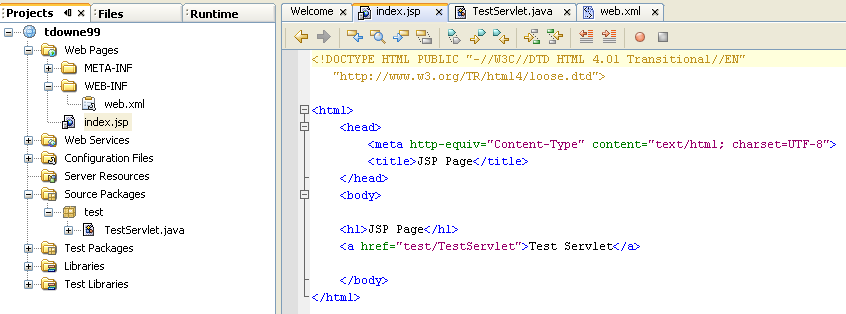 how to call java class from jsp page in netbeans