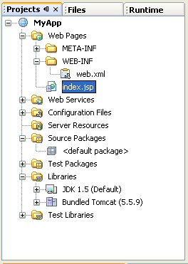 how to create a project in netbeans